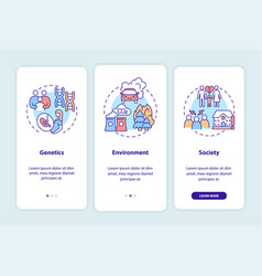 Adhd causes onboarding mobile app page screen vector
