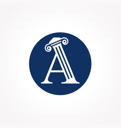 Attorney law letter a logo with creative modern vector