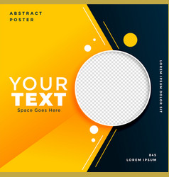 attractive social media post banner with image vector image