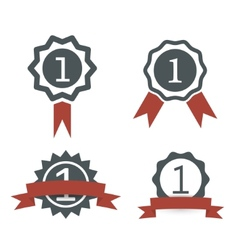 award medal icons vector image