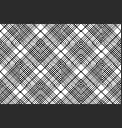 black and white check plaid seamless fabric vector image