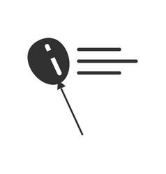 Black icon on white background balloon silhouette vector