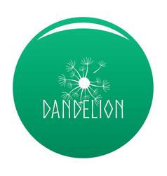 Blooming dandelion logo icon green vector