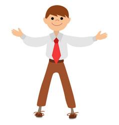 Boy actor gesture hands applause vector