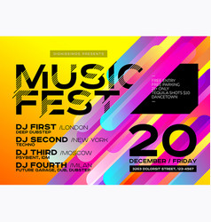bright autumn electronic music poster vector image