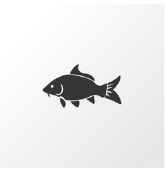 carp icon symbol premium quality isolated haddock vector image