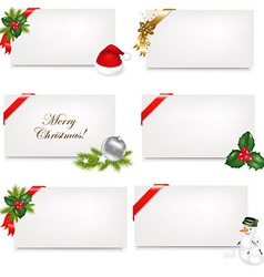 Christmas Blank Gift Tag Set vector