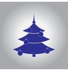 Christmas tree decorated with vector
