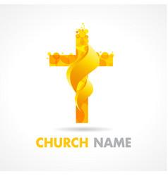 church fire logo vector image
