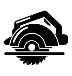 circular saw icon simple style vector image