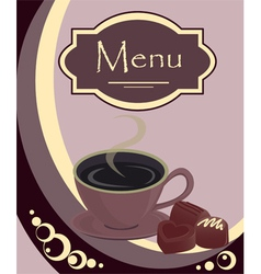coffee house or shop menu vector image