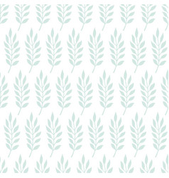 cute doodle seamless pattern with twigs and leaves vector image