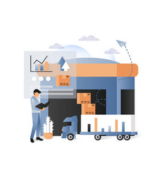 delivery and logistics services concept vector image