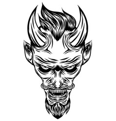 devil with glare eyes vector image