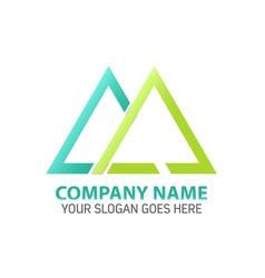 Double triangle logo icon template vector