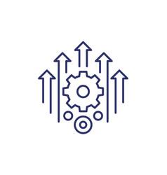 Efficiency efficient process line icon vector