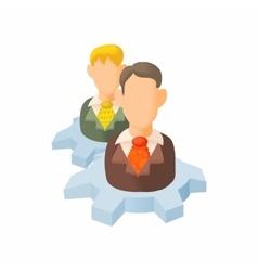 Employee training concept icon cartoon style vector