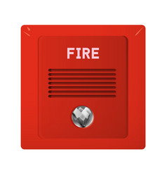 fire alarm with light and audible alarm vector image