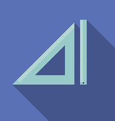 Flat design modern of triangle and straightedge vector image