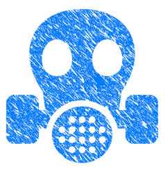 Gas mask grunge icon vector