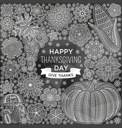 Happy thanksgiving background with creative vector