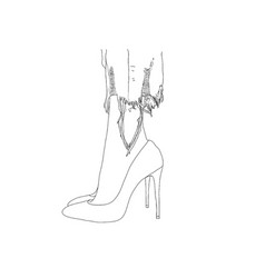 heels vector image