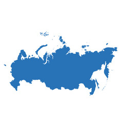 high detailed map - russia vector image