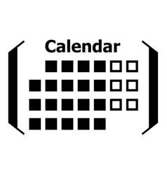 information calendar icon simple style vector image