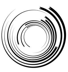 Irregular asymmetric radiating circular abstract vector