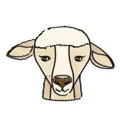 Isolated sheep design vector