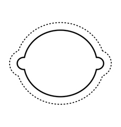 Lemon fresh fruit drawing icon vector