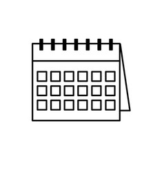 line important calendar to remember special days vector image