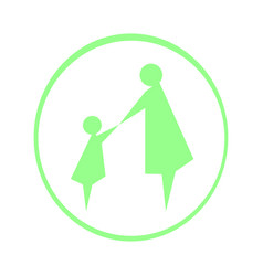 logo mother and child vector image