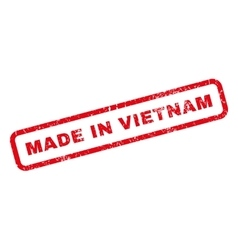 Made In Vietnam Rubber Stamp vector