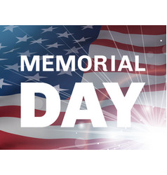 Memorial day flying flag of the usa and flash vector