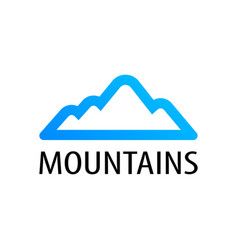 mountains logo emblem for tour decoration vector image