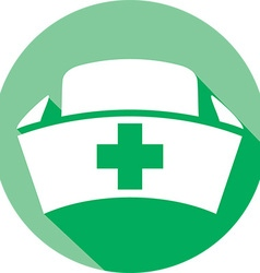 Nurse Hat Icon vector image