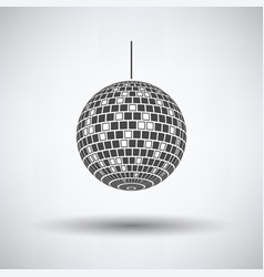 party disco sphere icon vector image
