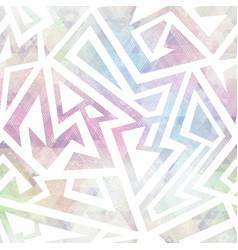 pastel geometric grunge pattern vector image