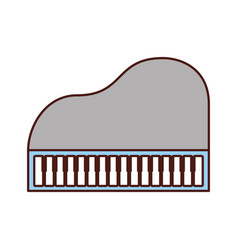 piano music instrument classic cartoon vector image