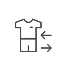Player substitution line icon vector