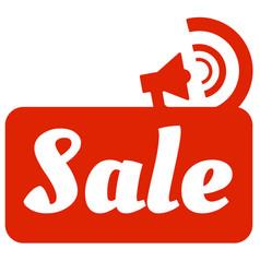 pop art sale red megaphone background image vector image