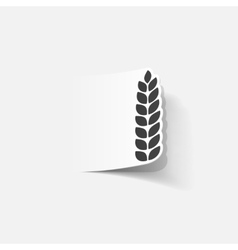 realistic design element ears of wheat vector image
