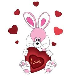 Romantic Rabbit vector image