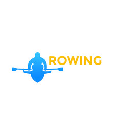 rowing logo element icon vector image
