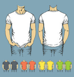 set of t-shirts templates vector image