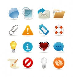 sixteen universal icons vector image