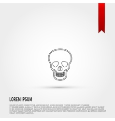 Skull Icon Flat design style vector image