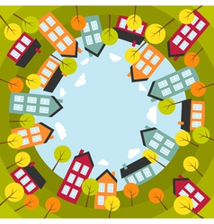 Small spherical town vector