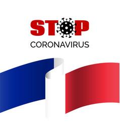 Stop coronavirus in france banner vector